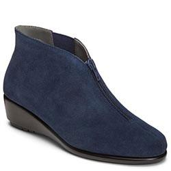 Aerosoles Allowance Wedge Boot, Blue Suede/leather