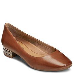 Aerosoles Subway Heel, Mid Brown Leather