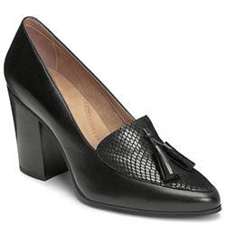 Aerosoles Times Square Heel, Black Leather
