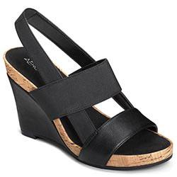 Aerosoles Magnolia Plush Wedge, Black