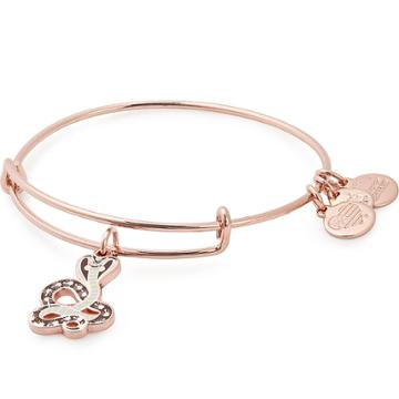 Alex And Ani Cobra Color Infusion Charm Bangle, Shiny Rose Gold Finish