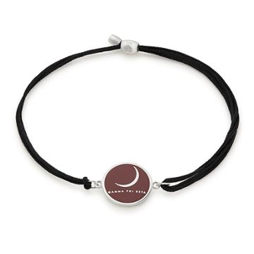 Alex And Ani Gamma Phi Beta Pull Cord Bracelet, Sterling Silver