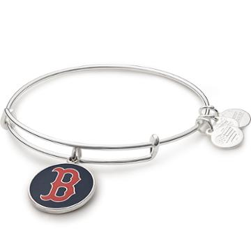 Alex And Ani Blue Boston Red Sox Charm Bangle, Shiny Silver Finish