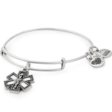 Alex And Ani Medical Professional Charm Bangle, Rafaelian Silver Finish