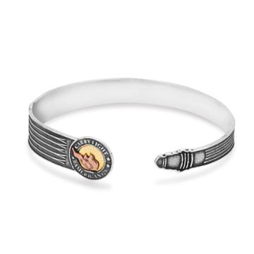 Alex And Ani Liberty Copper | Carry Light™ 14kt Gold Center Cuff, 14kt Gold Plated