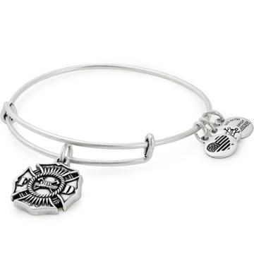 Alex And Ani Firefighter Charm Bangle, Rafaelian Silver Finish