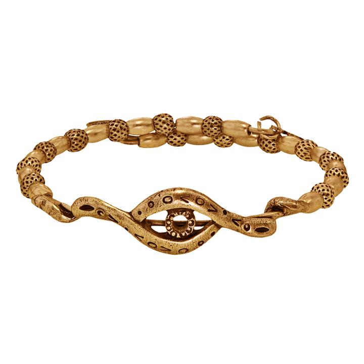 Alex And Ani Protective Eye Wrap, Rafaelian Gold Finish