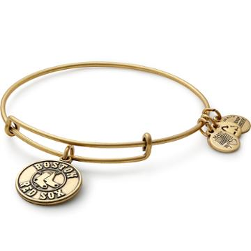 Alex And Ani Boston Red Sox  Primary Logo Charm Bangle, Rafaelian Gold Finish
