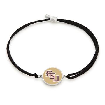 Alex And Ani Florida State University Pull Cord Bracelet, Sterling Silver