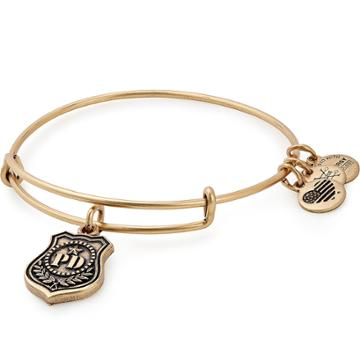Alex And Ani Law Enforcement Charm Bangle, Rafaelian Gold Finish