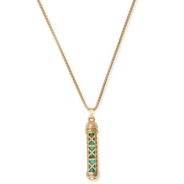Alex And Ani Turquoise Eiffel Tower Adjustable Necklace, 14kt Gold Plated