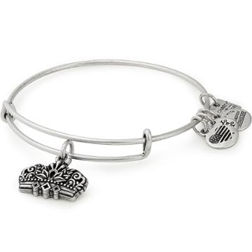 Alex And Ani Queen's Crown Charm Bangle Girls On The Run, Rafaelian Silver Finish