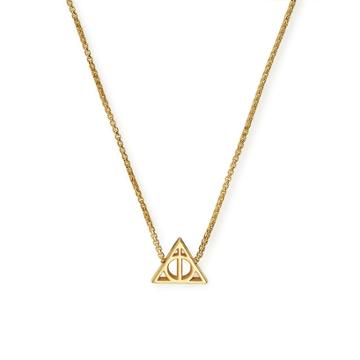 Alex And Ani Harry Potter  Deathly Hallows  Adjustable Necklace, 14kt Gold Plated