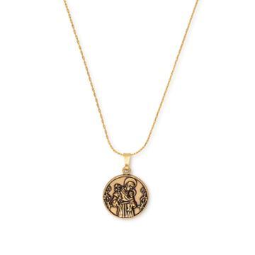 Alex And Ani Saint Anthony Expandable Necklace, Rafaelian Gold Finish