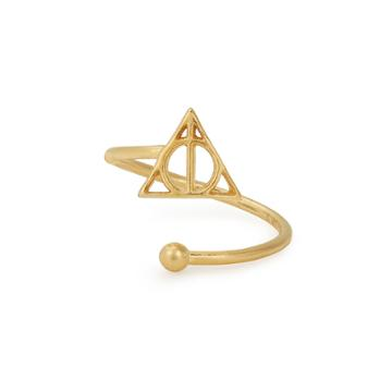 Alex And Ani Harry Potter  Deathly Hallows  Ring Wrap, 14kt Gold Plated