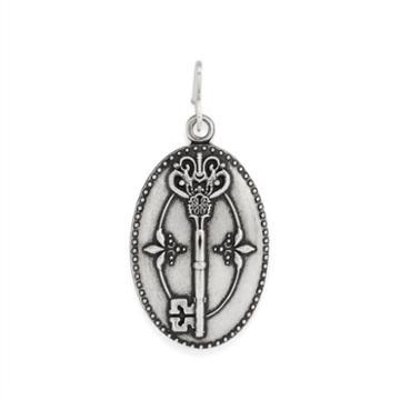 Alex And Ani Key To Life Necklace Charm Rafaelian Silver Finish