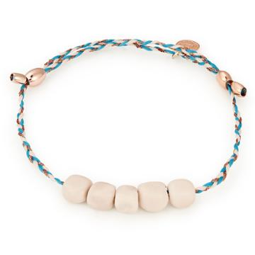 Alex And Ani Riverstone Gemstone Precious Threads Bracelet, 14kt Rose Gold Plated