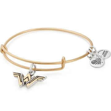 Alex And Ani Wonder Woman Two Tone Logo Charm Bangle