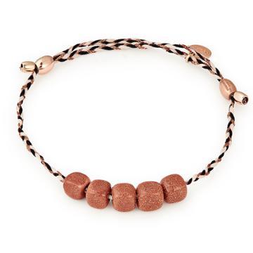 Alex And Ani Sunstone Gemstone Precious Threads Bracelet, 14kt Rose Gold Plated