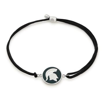 Alex And Ani Michigan State University Pull Cord Bracelet, Sterling Silver