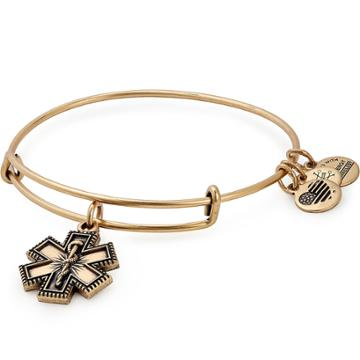 Alex And Ani Medical Professional Charm Bangle, Rafaelian Gold Finish