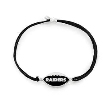Alex And Ani Oakland Raiders Pull Cord Bracelet, Sterling Silver