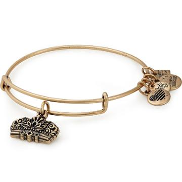 Alex And Ani Queen's Crown Charm Bangle Girls On The Run, Rafaelian Gold Finish