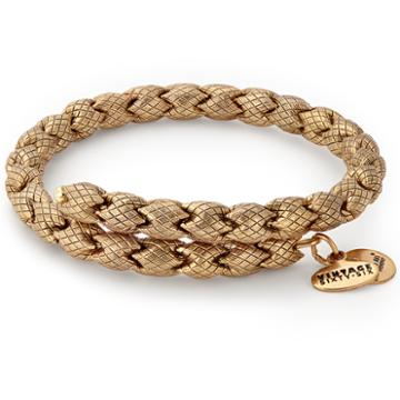 Alex And Ani Empire Wrap, Rafaelian Gold Finish