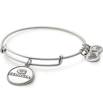 Alex And Ani University Of Georgia  Logo Charm Bangle, Rafaelian Silver Finish