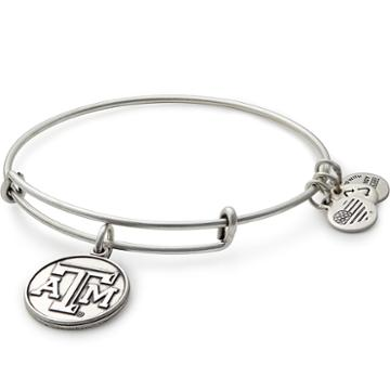 Alex And Ani Texas A&m University  Logo Charm Bangle, Rafaelian Silver Finish