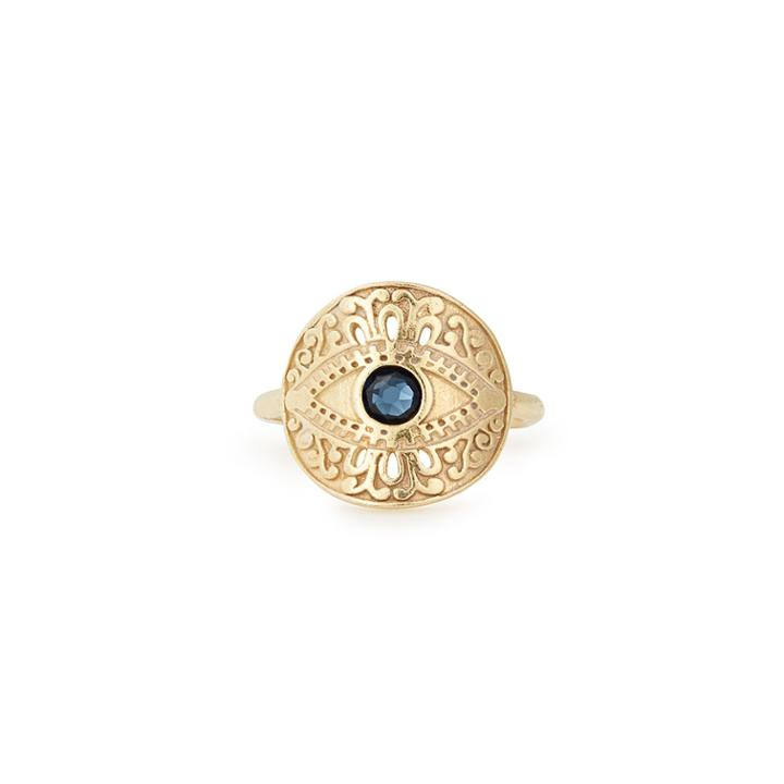 Alex And Ani Evil Eye Adjustable Statement Ring, 14kt Gold Plated Sterling Silver