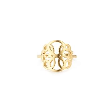 Alex And Ani Path Of Life Adjustable Statement Ring, 14kt Gold Plated Sterling Silver