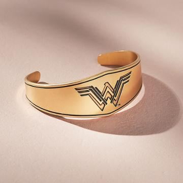 Alex And Ani Wonder Woman Warrior Princess Cuff, Rafaelian Gold Finish