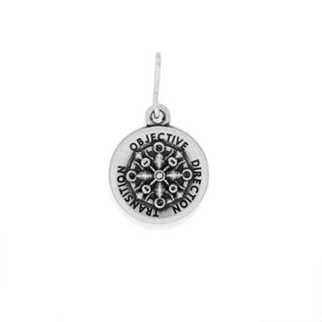 Alex And Ani Compass Mini Necklace Charm Rafaelian Silver Finish