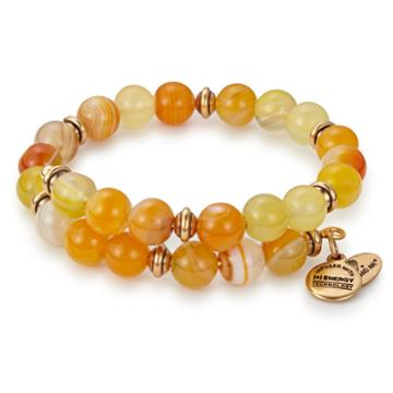 Alex And Ani Mango Marble Wrap, Rafaelian Gold Finish