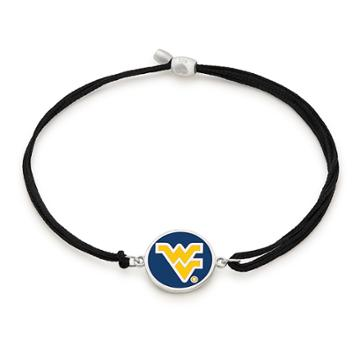 Alex And Ani West Virginia University Pull Cord Bracelet, Sterling Silver