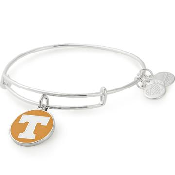 Alex And Ani University Of Tennessee Logo Color Infusion Charm Bangle, Shiny Silver Finish