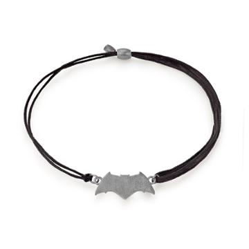 Alex And Ani Batman Pull Cord Bracelet, Sterling Silver