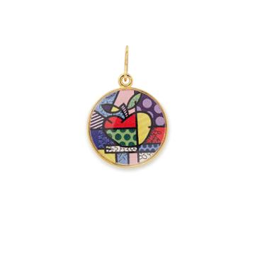 Alex And Ani Ny State Art Infusion Necklace Charm Romero Britto, Shiny Gold Finish