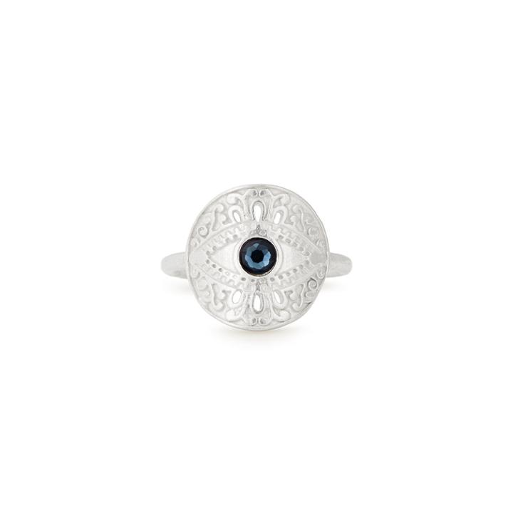 Alex And Ani Evil Eye Adjustable Statement Ring, Sterling Silver