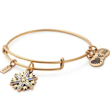 Alex And Ani 2017 Black Friday Snowflake Charm Bangle, Rafaelian Gold Finish