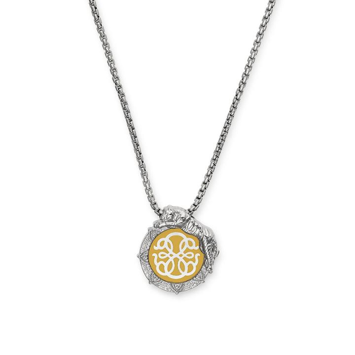 Alex And Ani Tiger And Path Of Life Color Infusion Adjustable Necklace, Sterling Silver