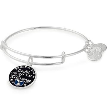 Alex And Ani Harry Potter  When In Doubt Charm Bangle, Shiny Silver Finish