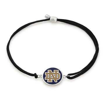 Alex And Ani University Of Notre Dame Pull Cord Bracelet, Sterling Silver