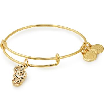 Alex And Ani Tiger Color Infusion Charm Bangle, Shiny Gold Finish