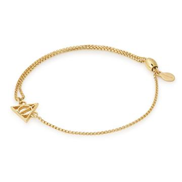 Alex And Ani Harry Potter  Deathly Hallows  Pull Chain Bracelet, 14kt Gold Plated