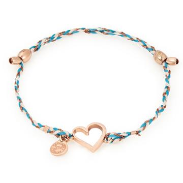 Alex And Ani Heart Precious Threads Bracelet, 14kt Rose Gold Plated