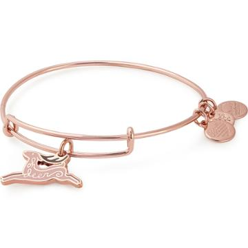 Alex And Ani Oh Deer Charm Bangle Online Exclusive, Shiny Rose Gold Finish