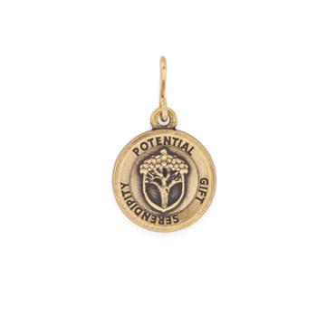 Alex And Ani Unexpected Miracles Mini Necklace Charm Rafaelian Gold Finish