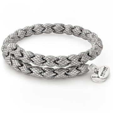 Alex And Ani Empire Wrap, Rafaelian Silver Finish